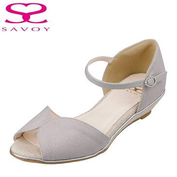 サボイ SAVOY SA94268 レディース靴 靴 シューズ E相当 パンプス セパレートパンプス サンダル Vカット ラメ キラキラ グレー