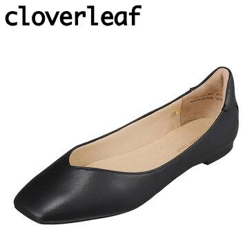 クローバーリーフ cloverleaf CL-1004 レディース靴 靴 シューズ 3E相当 パンプス スクエアトゥ 抗菌 防臭 インソール 小さいサイズ対応 大きいサイズ対応 ブラック