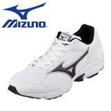 [ミズノ] MIZUNO K1GA161709 レディース | ランニングシューズ スポーツシューズ| 反射板 再帰性反射材 | ジョギング マラソン ジム | 運動靴 通学 部活 | 大きいサイズ対応 25.0cm | ホワイト×ブラック