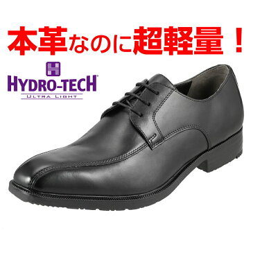 ハイドロテック HYDRO TECH ビジネスシューズ ウルトラライト HD1313 メンズ靴 靴 シューズ 24.5-28.0cm ビジネス 通勤 仕事 本革 軽量 外羽根 スワールモカ 大きいサイズ対応 28.0cm ブラック