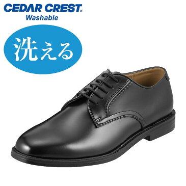 ビジネスシューズ セダークレスト CEDAR CREST CC-1302 メンズ靴 靴 シューズ 24.0 - 28.0cm ビジネス 通勤 仕事 外羽根 カップインソール ウォッシャブル 洗える 通気性 クッション性 大きいサイズ 対応 ブラック