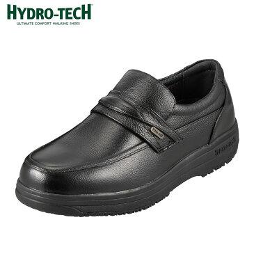 ハイドロテック ウォーキング HYDRO TECH ウォーキング 6302 メンズ靴 靴 シューズ 4E ウォーキングシューズ 防水 スリッポン 本革 ビジネス 通勤 仕事 黒 衝撃吸収 滑りにくい 雨の日 歩きやすい ブラック