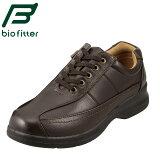 バイオフィッター カジュアルシューズ Bio Fitter ベーシックフォーメン BF-2907 メンズ靴 4E コンフォートシューズ ローカット レースアップ 防臭 軽量 幅広 衝撃吸収 紳士靴 革靴 通勤 仕事 大きいサイズ 対応 28.0cm ダークブラウン