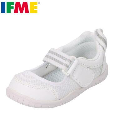 IFME イフミー 上履き うわばき 上靴 スクールシューズ キッズ 靴 靴 シューズ 子供 男の子 女の子 バレエシューズ 甲高 幅広 幼稚園 保育園 小学校 スペアインソール付き 通気性 履きやすい SC-0003 ホワイト