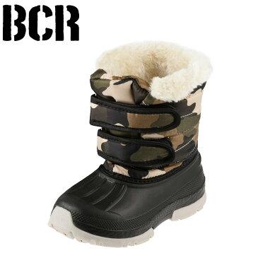 [スーパーSALE中ポイント5倍][ベアクリーク] BEARCREEK BCK0878 キッズ・ジュニア | キッズブーツ | 子供用ブーツ ダウンブーツ | 防寒 面ファスナー カモフラ柄 | 男の子 女の子 | キャメル
