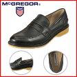 [マックレガー] McGREGOR MC7980 メンズ | コインローファー | 本革 シンプルデザイン | 疲れにくい 幅広3E | 小さいサイズ対応 24.5cm | ブラック