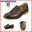 [マックレガー] McGREGOR MC7980 メンズ | コインローファー | 本革 シンプルデザイン | 疲れにくい 幅広3E | 小さいサイズ対応 24.5cm | ダークブラウン