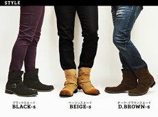 ブーツメンズブーツエンジニアブーツショートブーツドレープブーツスエードワークブーツスウェードベルトストラップカジュアルシューズビンテージ加工人気男靴メンズシューズ