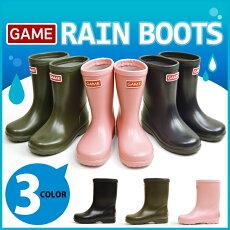 GAMEゲームレインシューズスノーブーツ長靴レインブーツスニーカーキッズジュニア反射板リフレクタースノーシューズ防水防寒防滑ブーツ