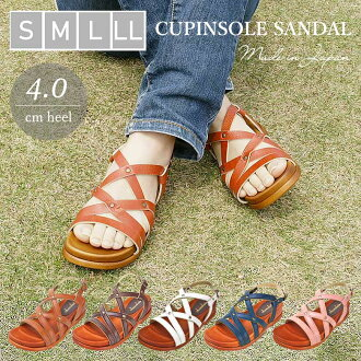 Backhand with round toe pettanko Tan here or straws or casual female sandals