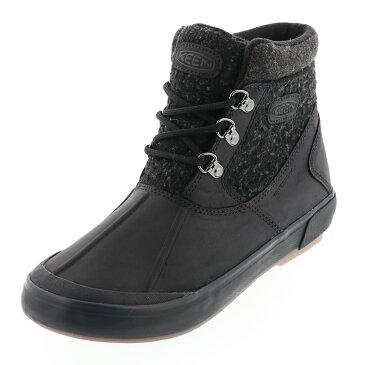 送料無料 沖縄離島除く KEEN キーン レディース ウィンターブーツ Elsa II Waterproof Wool Ankle Boot エルサCWP BLACK/RAVEN ブラック