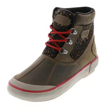 送料無料 沖縄離島除く KEEN キーン レディース ウィンターブーツ Elsa II Waterproof Wool Ankle Boot エルサCWP CANTEEN/RED DAHLIA カーキ