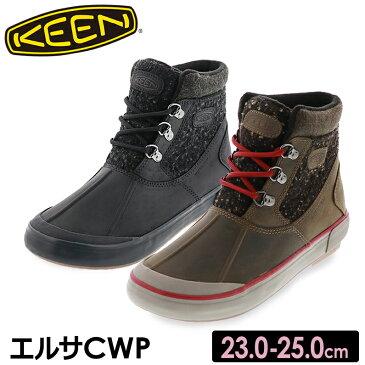 送料無料 沖縄離島除く KEEN キーン レディース ウィンターブーツ Elsa II Waterproof Wool Ankle Boot エルサCWP カーキ ブラック