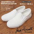 【CONVERSE】【JACK PURCELL NT WHITEPLUS SLIP-ON】【コンバース】 ジャックパーセル NT ホワイトプラス スリップオン スリッポンローカット メンズ レディース スニーカー キャンバス シューズ 白 ホワイト22.5cm~28.0cm JP NT WP S-O