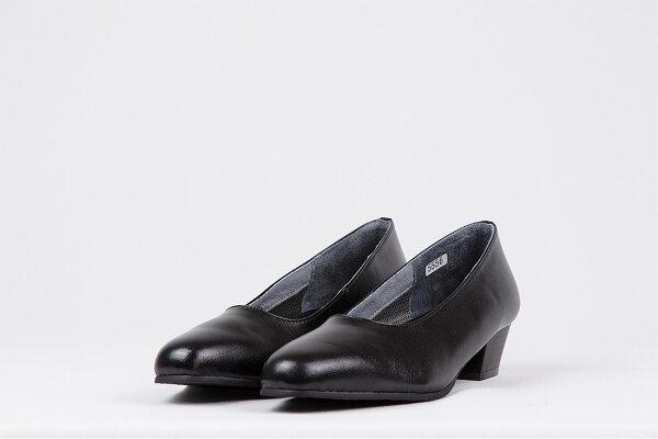 FIZZREEN5556幅3Eブラッククロ黒色日本製フィズリーンレディース女性用本革レザー3.5cmヒールプレーンパンプス冠婚葬