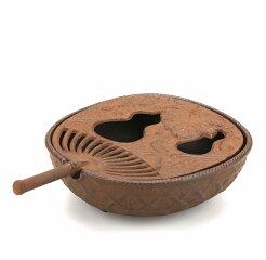 【南部鉄器】灰皿うちわ茶