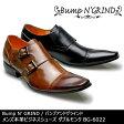 Bump N' GRIND バンプアンドグラインド メンズ MENS 本革 ビジネスシューズ ビジネス ドレスシューズ ロングノーズ 靴 くつ シューズ 革靴 ダブルモンク 紳士靴 BG-6022 【送料無料】
