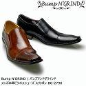 BumpNGRINDバンプアンドグラインドメンズ本革ビジネスシューズスリッポンBG-2790