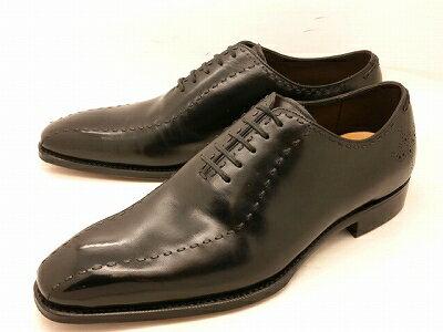 ユニオンインペリアル1102(ブラック)スワールステッチ ホールカットビジネスシューズ ワンピースメンズ靴 UNION IMPERIAL