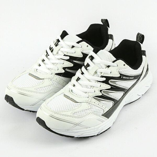 DarniKarniダーニカーニ防水・幅広5E設計ランニング610メンズホワイト/ブラック24.5〜27,28cm靴シューズスニ