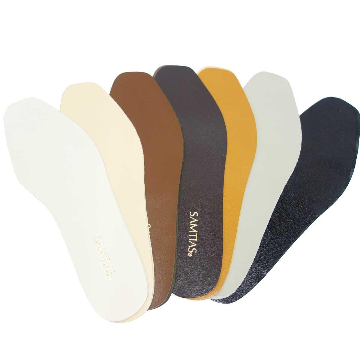《メール便可》薄型レザーインソール(レディース)パンプスやサンダルの中敷きを交換SAMTIAS 超薄型インソール(本革製)レディースフリーサイズ(はさみでカットして大きさを調整)靴 シューズ画像