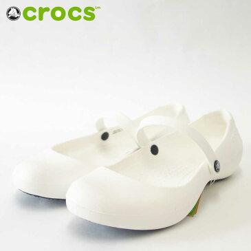 crocs クロックス alice work アリスワーク 11050 100 ホワイト(レディース)水・油にも滑りにくいソール搭載「靴」