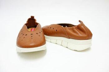 軽量・ゆったりEEEの楽ちんシューズHinaDayGreenヒナ7010ブリック(レディース)日本製天然皮革のカジュアルシューズ「靴」