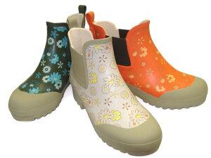 クロワッサン の レインブーツ ♪花柄がとってもオシャレ!!履いていて楽しくなっちゃう!! ...