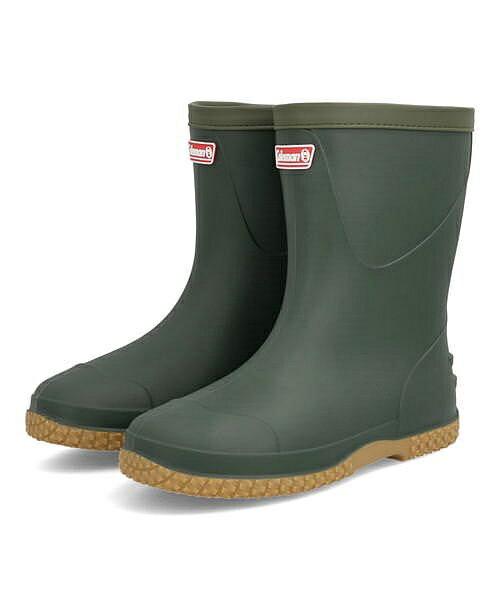 コールマンColemanパッカブルレインブーツカーキ(グリーン)メンズレインブーツ長靴限定モデルクッション性防水雨雪靴カジュアルデイリースポーツスクール学校913120
