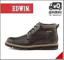 【2/28マデ限定15%ポイントバック】エドウィン メンズ ワークブーツ 防水 防滑 雨 雪 靴 カジュアル デイリー アウトドア リゾート EDWIN EDM-9805 ブラック