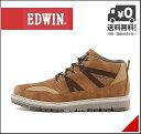 エドウィン メンズ ミッドカット スニーカー ブーツ 防水 防滑 雨 雪 靴 カジュアル デイリー アウトドア リゾート EDWIN EDM-9903 ブラウン