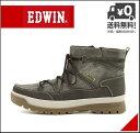 エドウィン ウィンターブーツ ショートブーツ メンズ レインブーツ 長靴 レースアップ サイドジップ 防水 防滑 雨 雪 靴 カジュアル デイリー トラベル レジャー アウトドア EDWIN EDM-9905 ブラック