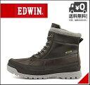 エドウィン ウィンターブーツ ビーンブーツ メンズ レインブーツ 長靴 レースアップ あったか 保温 クッション性 防水 防滑 雨 雪 靴 カジュアル デイリー トラベル レジャー アウトドア EDWIN EDM-9906 ブラック