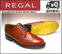 リーガル ビジネスシューズ 靴 メンズ スコッチグレインウィングチップ 2235NA ブラウン【メンズバーゲン】