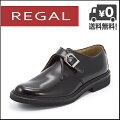 リーガル靴メンズビジネスシューズREGALモンクストラップJU16AGブラック【バーゲン】