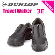 ダンロップ レディース コンフォートウォーカー ウォーキングシューズ スニーカー 痛くない 歩きやすい 疲れにくい スリッポン 3E 幅広 DUNLOP C404 ブラック