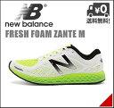 ニューバランス メンズ ランニングシューズ スニーカー フレッシュフォーム ザンテ M 軽量 通気性 クッション性 屈曲性 耐久性 D FRESH FOAM ZANTE M new balance 162980 ホワイト/グリーン