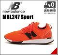 ニューバランスランニングシューズスニーカーメンズMRL247軽量クッション性Dカジュアルデイリートラベルウォーキングスポーツnewbalance172247オレンジ