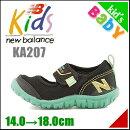 ニューバランス男の子キッズ子供靴通学靴運動靴ウォーターシューズスニーカーKA207ストラップアウトドア速乾防滑newbalance160207ブラック