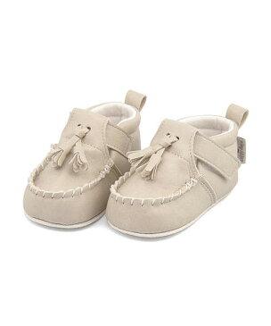 ベビーシューズ ファーストシューズ スニーカー 女の子 男の子 キッズ ベビー 子供靴 運動靴 通園通学靴 タッセル 軽量 クッション性 屈曲性 カジュアル デイリー フォーマル お祝い アンヨ Anyo 81845 ベージュ
