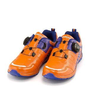 ランニングシューズ スニーカー 女の子 男の子 キッズ 子供靴 運動靴 通学靴 ダイヤル クッション性 カジュアル デイリー スポーツ スクール 学校 イナフ ENOUGH EN-030 オレンジ/ブルー