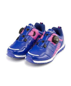 ランニングシューズ スニーカー 女の子 男の子 キッズ 子供靴 運動靴 通学靴 ダイヤル クッション性 カジュアル デイリー スポーツ スクール 学校 イナフ ENOUGH EN-030 ブルー/ピンク