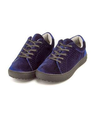 ローカット スニーカー 女の子 キッズ 子供靴 通学靴 運動靴 クッション性 美脚 カジュアル デイリー スポーツ スクール 学校 ナイスクラップ NICE CLAUP 25393 ネイビー