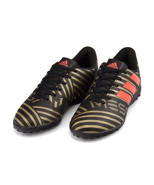 アディダス サッカーシューズ スニーカー 男の子 キッズ 子供靴 運動靴 通学靴 ネメシス メッシ タンゴ 17.4 TF J NEMEZIZ MESSI TANGO 17.4 TF J adidas CP9217 コアブラック/ソーラーレッド/タクティルゴールドメランジ