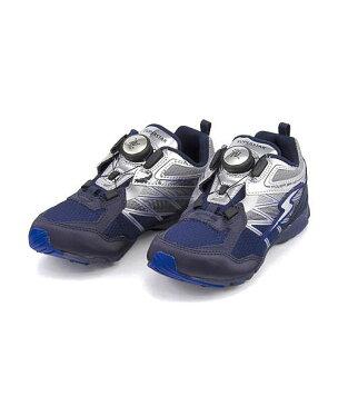 スーパースター バネのチカラ ランニングシューズ スニーカー 男の子 キッズ 子供靴 通学靴 運動靴 パワーバネ ダイヤル 通気性 クッション性 EE カジュアル デイリー スポーツ スクール 学校 SS SUPERSTAR J871 ネイビー