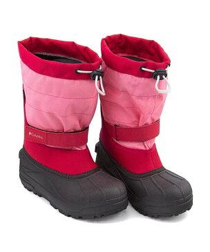 コロンビア スノーブーツ 女の子 キッズ 子供靴 運動靴 通学靴 ユースパウダーバグプラス2 クッション性 防水 雨 雪 靴 カジュアル デイリー スポーツ スクール 学校 YOUTH POWDERBUG PLUS 2 Columbia BY1326 カメリアローズ
