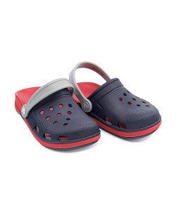 クロックス クロッグ サンダル 女の子 キッズ 子供靴 運動靴 通学靴 エレクトロ3.0クロッグK クッション性 カジュアル デイリー スポーツ スクール 学校 ELECTRO 3 CLOG K crocs 204991 ネイビー/フレーム