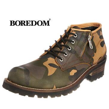 迷彩ワークブーツ メンズ靴 カジュアルシューズ カモフラージュ BOREDOM ボアダム 0107 SD3840056【MS】【Y_KO】【csv160405】【P10】 【ren】