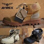 AVIREX送料無料SCORPIONスコーピオンアビレックスブーツメンズレディース正規品アヴィレックス本革×キャンバスレザーAV3400大きいサイズあり