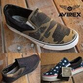 AVIREX送料無料FREEDOMアビレックスフリーダムメンズレディーススニーカーシューズVintageスリッポン靴正規品アヴィレックスAV3522大きいサイズあり